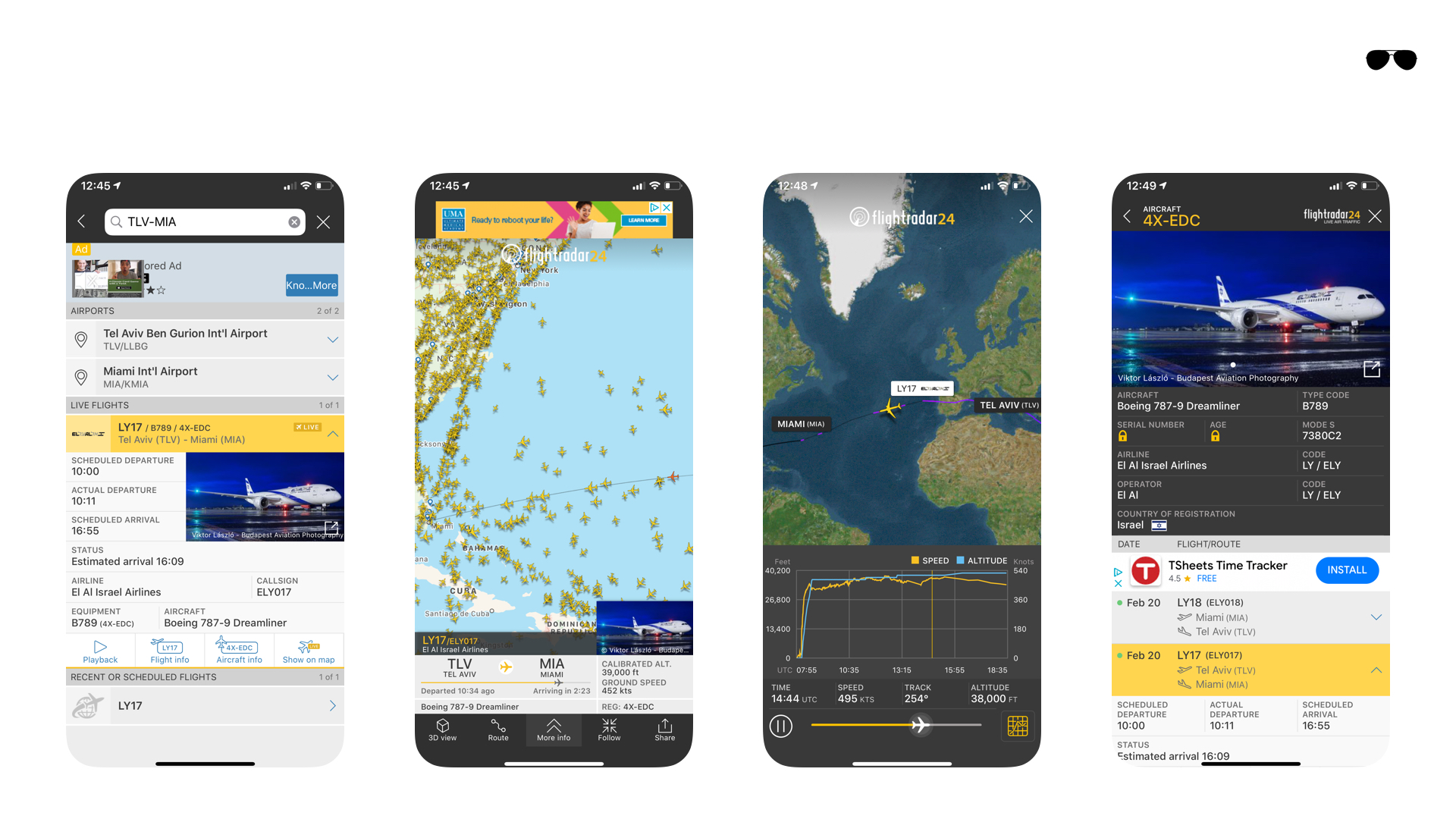 אפליקציות לטייסים - רדאר מטוסים