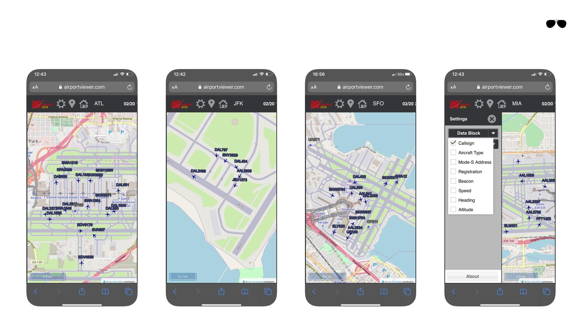 אפליקציות לטייסים - מפה חיה של שדות תעופה
